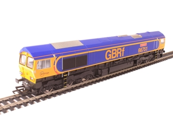 """R3573 Class 66/7 66751 """"Inspiration Delivered - Hitachi Rail Europe"""" in GB Railfreight livery"""