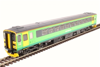 R3575 Class 153 single car DMU 153379 in ex-Central Trains green with East Midlands Trains branding