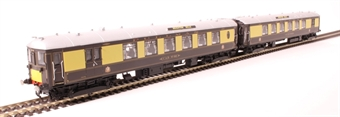 R3606 5-BEL Pullman Brighton Belle EMU end vehicles in Pullman umber and cream with small yellow panels