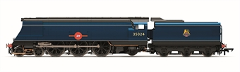"""R3632 Class 8P 'Merchant Navy' 4-6-2 35024 """"East Asiatic Company"""" in BR blue with early emblem"""