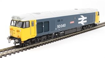 "R3653 Class 50 50040 ""Leviathan"" in BR large logo blue"