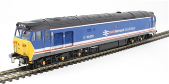 "R3658 Class 50 50033 ""Glorious"" in revised Network SouthEast livery"