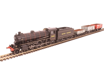 R3671 North Eastern freight train pack with Class K1 62006 in BR black and three open wagons