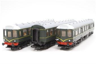 R369-PO34 Class 110 3 Car DMU in BR Green no's E51829, E59695 and E51812 - Pre-owned - inconsistent runner - imperfect box