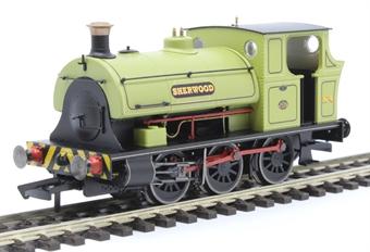 "R3693 Class B2 Peckett 0-6-0ST No.4 ""Sherwood"" in Sherwood Colliery lined green"