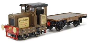 """R3707 Ruston 48DS """"Queen Anne"""" in Longmorn Distillery livery with match wagon £72"""