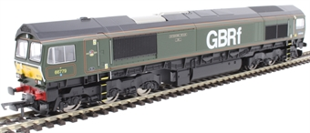 """R3747 Class 66/7 66779 """"Evening Star"""" in BR green with GBRf branding"""