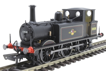 R3768X Class A1X Terrier 0-6-0T 32636 in BR black with late crest - Digital fitted