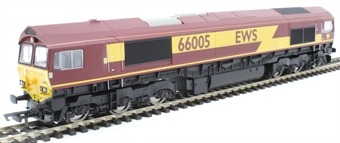 R3777 Class 66/0 66005 in EWS maroon and gold