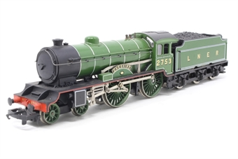 R378-D49-PO14 Class D49/1 4-4-0 'Cheshire' 2753 in LNER Green - Pre-owned - Damaged and loose tender body, imperfect box