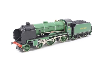 R380-PO22 Schools Class V 4-4-0 'Stowe' 928 in SR Malachite Green - Pre-owned - Poor runner due to jammed driving wheel, imperfect box