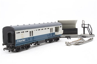 R402M-PO10 B.R Operating Royal Mail Coach Set M30224 - Pre-owned - Missing tracks, marks on body sides, imperfect box