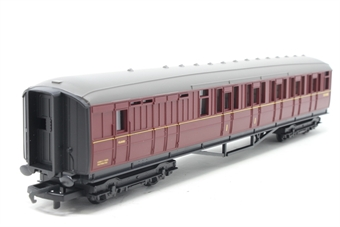 R4054A-PO01 BR (ex LNER) Brake Coach E10108E in BR Maroon - Pre-owned - weathered