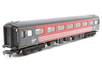 R4088-PO Mk2E 1st coach in Virgin red - Pre-owned - residue and glue marks on underframe detailing, where putty has previously been added as a traction weight