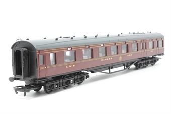 R4095G-PO01 LMS 68' 12-wheel dining car period 3 in LMS maroon No. 229 . - Pre-owned -  imperfect box