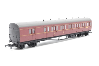 R4099A-PO06 BR Maroon Suburban B Coach No.W6381W - Pre-owned - missing 2 roof vents- replacement box
