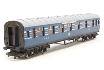 R4128A-PO05 L.M.S. Composite Coach (Coronation Scot Livery) 1069 - Pre-owned - Like new
