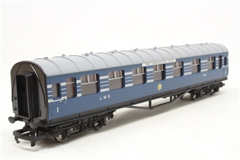 R4128A-PO07 L.M.S. Composite Coach (Coronation Scot Livery) 1069 - Pre-owned - Like new