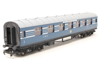 R4128C-PO Period 3 1st class coach 1071 in LMS 'Coronation Scot' blue and silver - Pre-owned - Like new