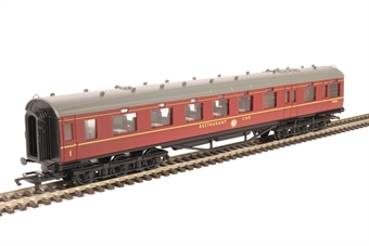 R4131C ex-LMS 68' 12-wheel restaurant car M232M in BR maroon
