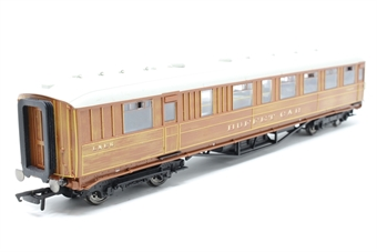 R4173-PO10 Gresley 61ft buffet car 21608 in LNER teak - Pre-owned - replacement box
