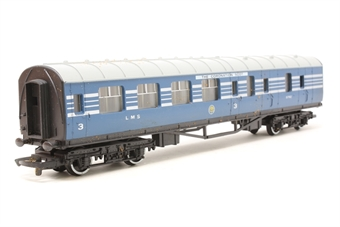 R423-PO10 L.M.S. Brake 3rd Coach (Coronation Scot Livery) 5792 - Pre-owned - Like new - imperfect box