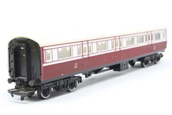 R427A-PO08 Caledonian Railways 1st/3rd Composite Coach with cream roof- Pre-owned - Paint chips and imperfect box