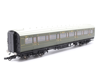 R4298B-PO10 SR dark olive Maunsell Corridor 1st Class No. 7666 - Pre-owned - Original couplings replaced with close couplings, imperfect box