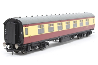 R4448-PO02 ex LMS Stanier Corridor 3rd Coach BR Crimson and Cream - Pre-owned - Like new
