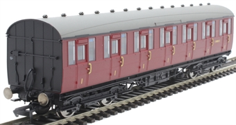 R4519B Gresley non-vestibuled suburban first E81032E in BR maroon