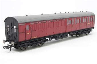 R4522A-PO03 Gresley (Non Vestibuled) suburban 3rd class brake in BR maroon - Pre-owned - Like new