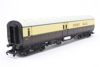 R4526-PO06 Night Mail Operating Mail Coach 849 in GWR chocolate & cream - Railroad Range - Pre-owned - Like new