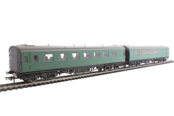 R4534D Maunsell push-pull coach pack Set 619 in BR green