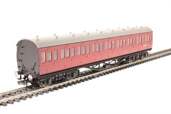 R4690 57' non-corridor third class M11912M in BR maroon