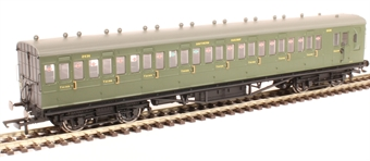 R4717A 58' Maunsell Rebuilt (Ex LSWR 48') eight compartment brake third 2636 in SR olive green