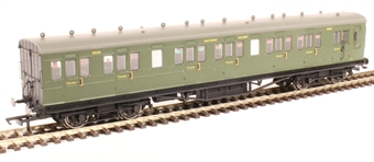 R4718A 58' Maunsell Rebuilt (Ex LSWR 48') six compartment brake third 2625 in SR olive green