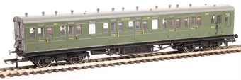 R4719A 58' Maunsell Rebuilt (Ex LSWR 48') six compartment brake composite 6401 in SR olive green