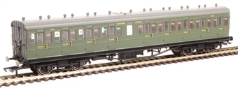 R4720A 58' Maunsell Rebuilt (Ex LSWR 48') nine compartment third 364 in SR olive green