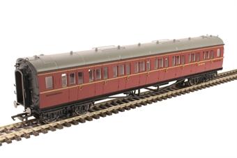 R4763 Collett corridor third class W5147W in BR maroon