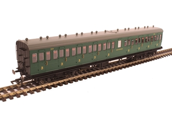 R4795 58' Maunsell Rebuilt (Ex-LSWR 48') nine compartment all third 320 in SR malachite green