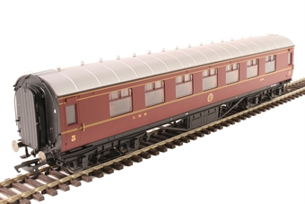 R4804 Stanier Period III corridor third 1745 in LMS crimson