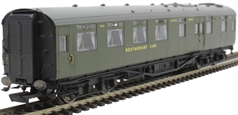 R4816A Maunsell restaurant kitchen and dining car 7865 in SR olive green