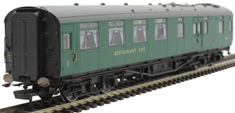 R4817A Maunsell restaurant kitchen and dining car S7858S in BR green