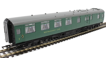 R4817 Maunsell restaurant kitchen and dining car S7861S in BR green