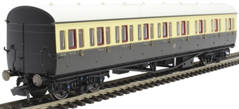 R4874A Collett 57' 'Bow ended' non-corridor composite (Left-hand) 6626 in GWR chocolate and cream