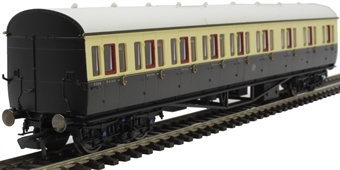R4874 Collett 57' 'Bow ended' non-corridor composite (Left-hand) 6360 in GWR chocolate and cream