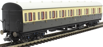 R4875A Collett 57' 'Bow ended' non-corridor composite (Right-hand) 6627 in GWR chocolate and cream