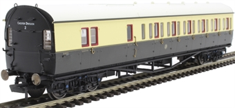 R4876A Collett 57' 'Bow ended' non-corridor brake third (Left-hand) 5503 in GWR chocolate and cream