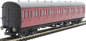 R4878A Collett 57' 'Bow ended' non-corridor composite (Left-hand) W6237W in BR crimson