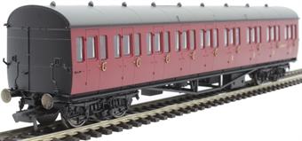 R4879A Collett 57' 'Bow ended' non-corridor composite (Right-hand) W6242W in BR crimson